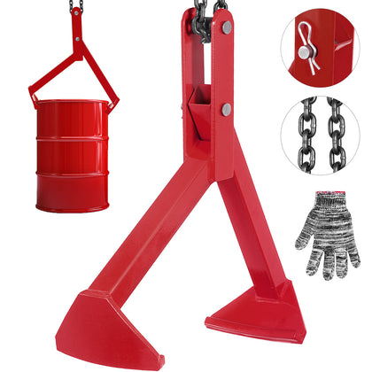Steel Drum Lifter 1100lbs Red Salvage Drum Carbon Steel Industrial Product