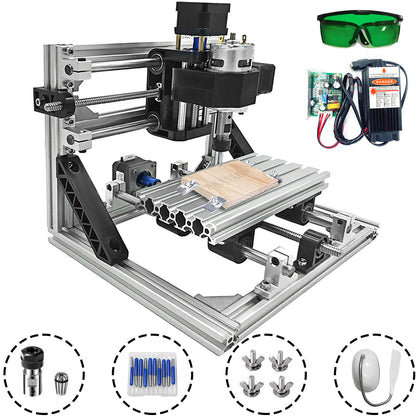 3 Axis Cnc Router Kit 1610 5500mw Grbl 2020 Aluminium Profiles Milling Diy