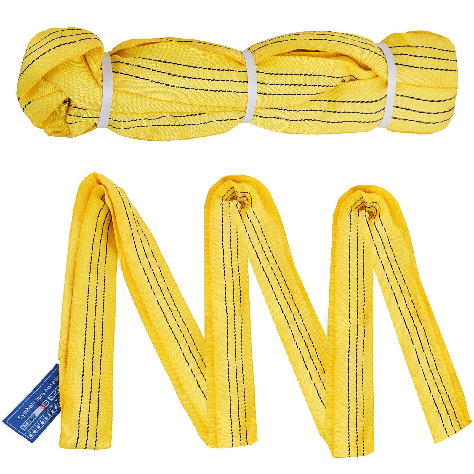 2pcs 12ft Perimeter 6600lbs Endless Round Lifting Sling 3.6m/12ft Rigging Crane