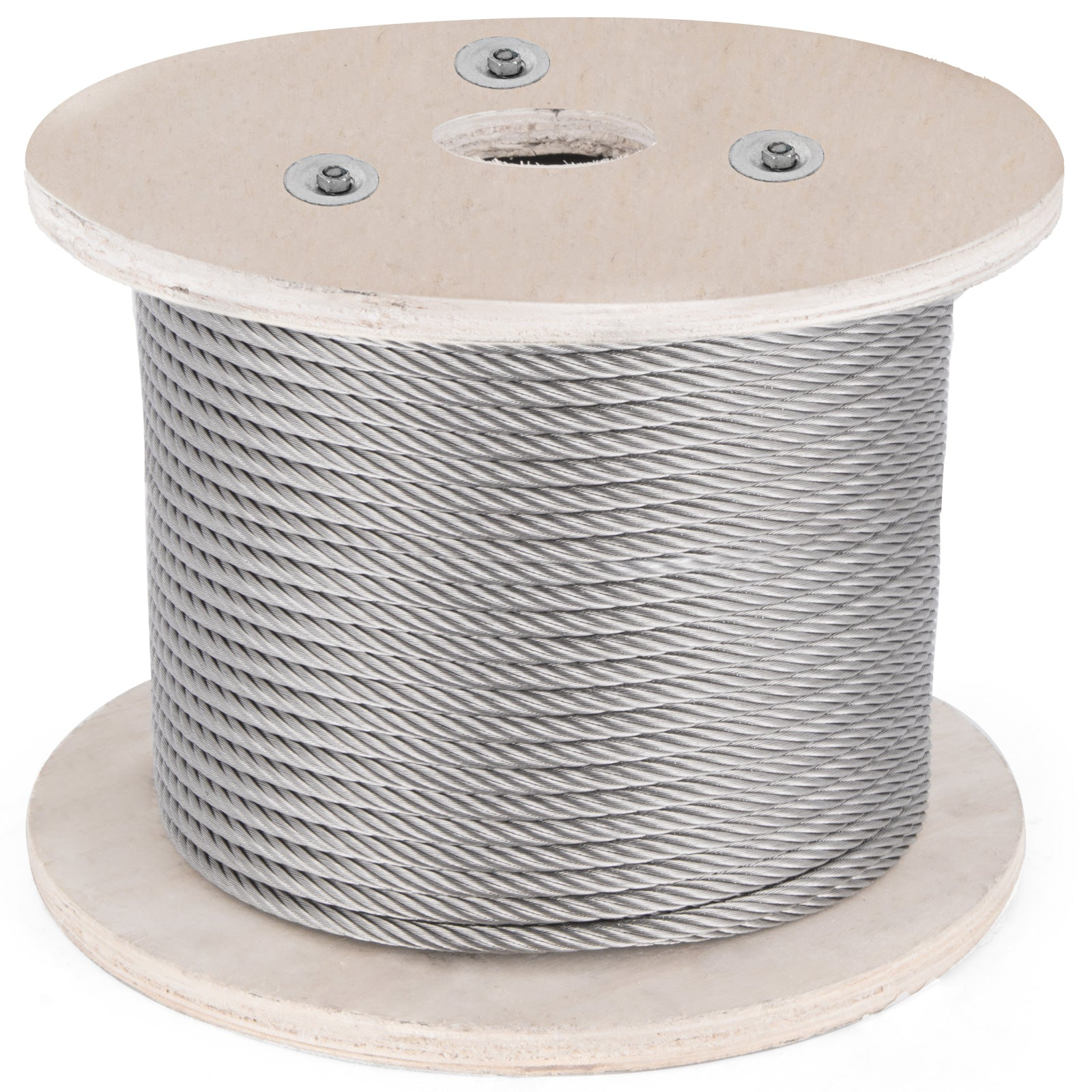 "T316 Stainless Steel Cable Wire Rope,1/4"",7x19,200ft Cable Railing Strand Reel"