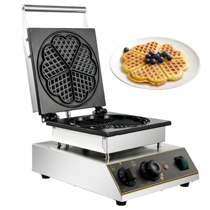 Commercial Ice Cream Waffle Maker Muffin Maker Crispy Maker Heart Shaped 1750w