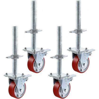 5'' Alloy Scaffold Castors Tower 360°swivel Spring