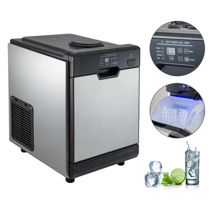 78lbs Ice Maker Ice Making Machine W/ Cool Water Dispenser 2 Filters Stain Steel
