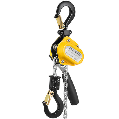 0.75t Mini Lever Chain Hoist With 15ft Chain Puller Durable Safety Latches