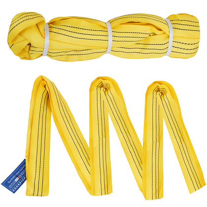 2pcs 10ft Perimeter 6600lbs Endless Round Lifting Sling Recovery Strap Rigging Durable