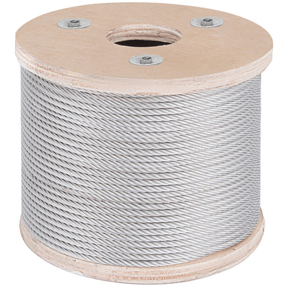 3/16 Stainless Steel Cable Wire Rope 7x19 Type 304 (250 Feet)