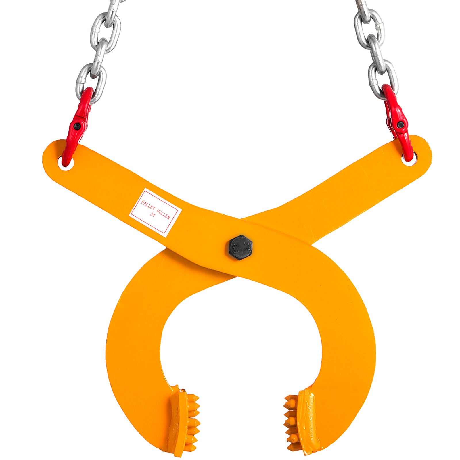 "3t 6614lbs pallet Puller Clamp With 8"" Chain Low Profile Material Handling"