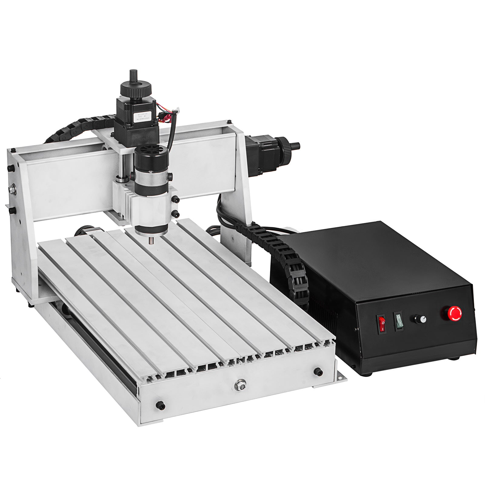 4 Axis Cnc Router 3040 Engraving Milling Machine 1202 Trapezoidal Screws Chrome