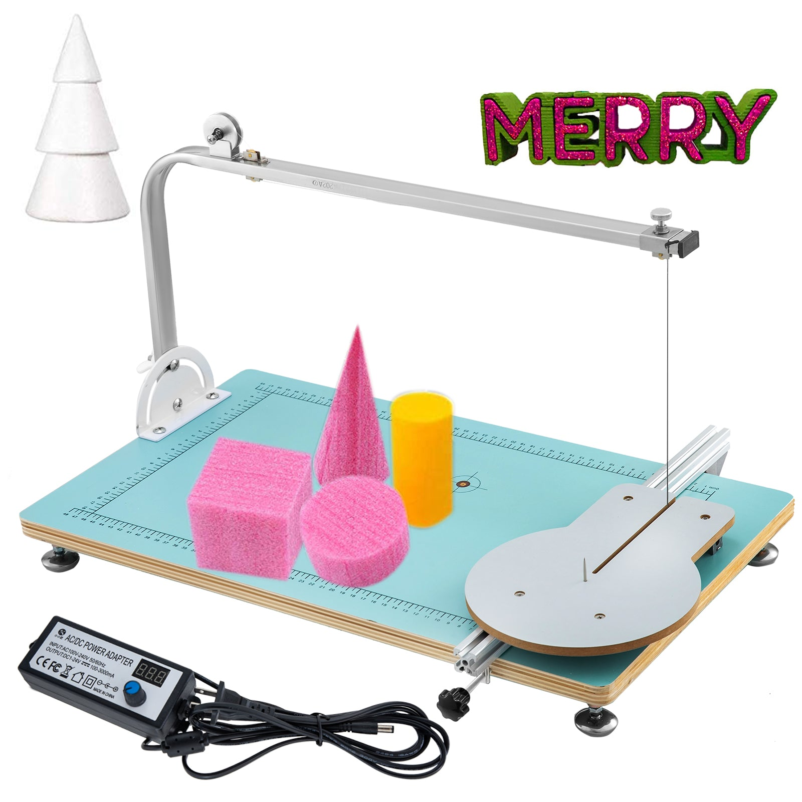 Board Foam Cutting Machine Styrofoam Cutter Hot Wire Work Table Tool 110v