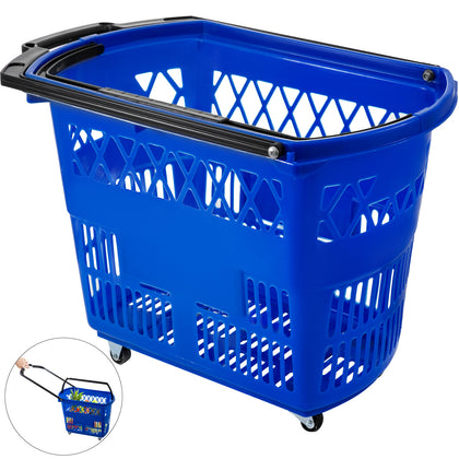 1pcs Shopping Basket 18.3x11x13in Shopping Lightweight Convenience Store Blue