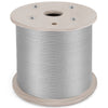 "T304 Stainless Steel Cable Wire Rope,1/8"",7x19,2000ft Strand Machinery Rigging"