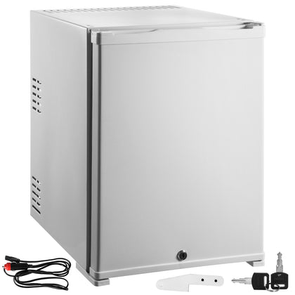 1cu.ft Absorption Mini Fridge Compact 12v Single Door No Freon Office Hotel Bar