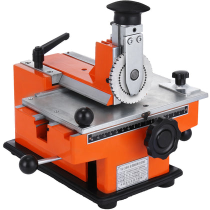 Embosser Stamping Machine Semi-auto Sheet 4mm Metal Marking Machine For Dog Tag
