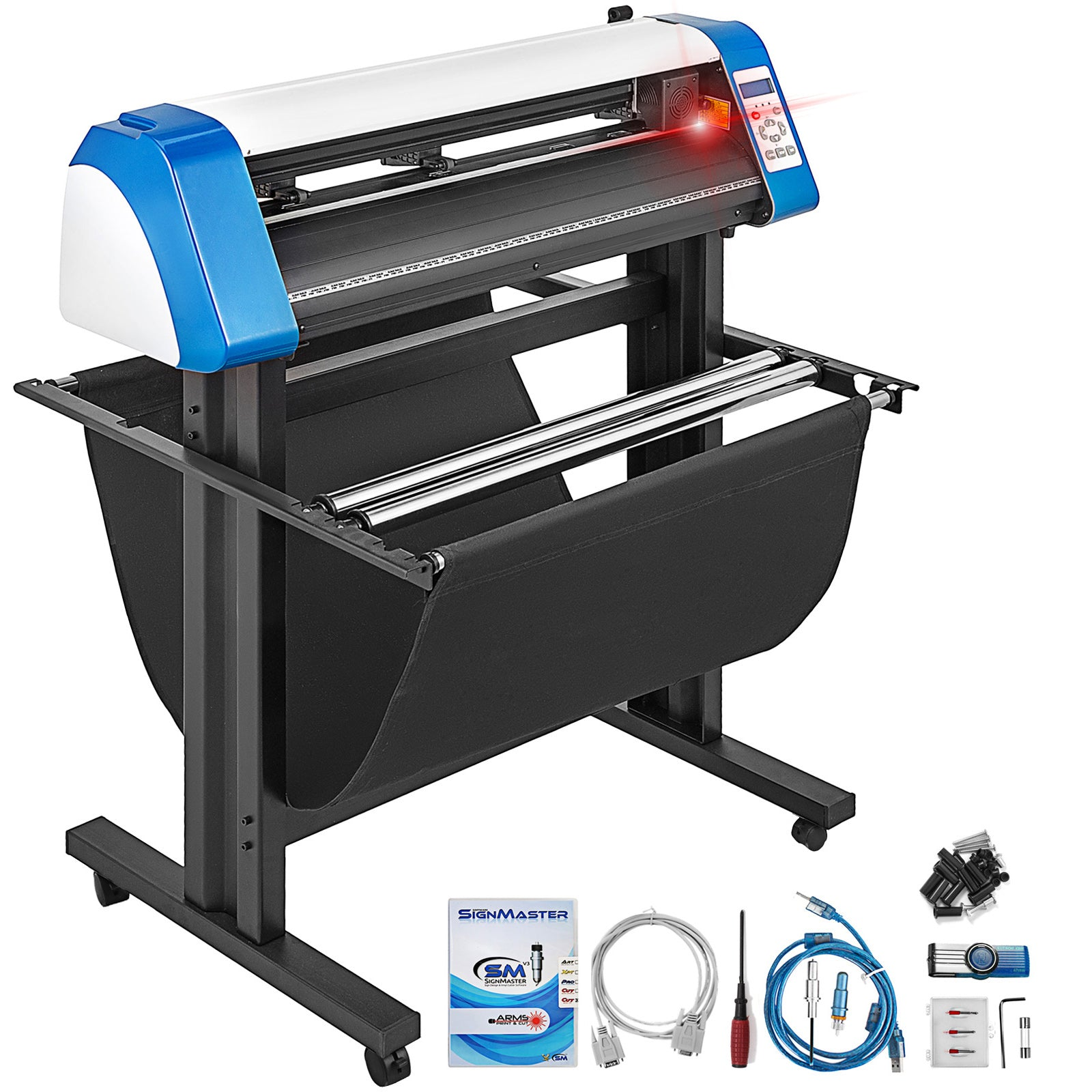 "28"" Vinyl Cutter Plotter Cutting Laser Plotter Usb Port 720mm Semi-automatic"