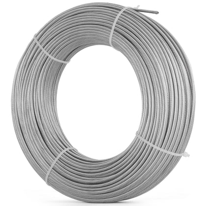 Cable Railing T316 Stainless Steel Wire Rope Cable Strand, 1/8