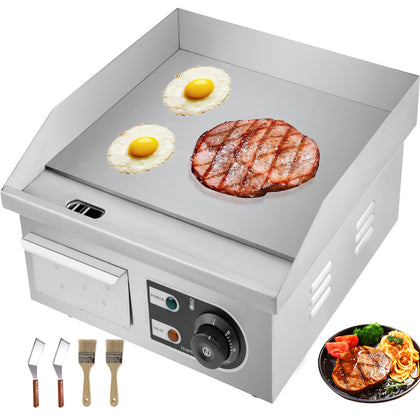 Electric Griddle Flat Top Grill 1500w 14