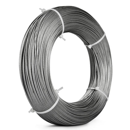1,000ft Stainless Steel Type 316 Wire Rope 7x7 - 1/16