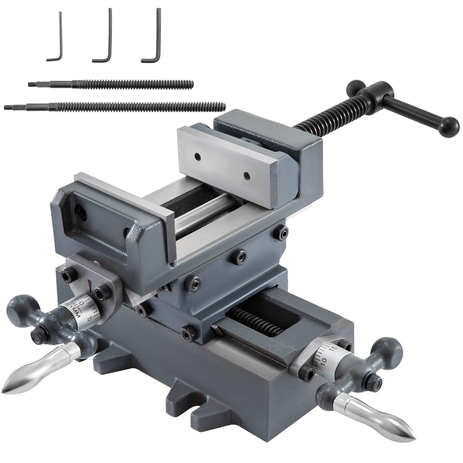 "3"" Compound Cross Slide Industrial Strength Drill Press Vise 2 Way Benchtop"