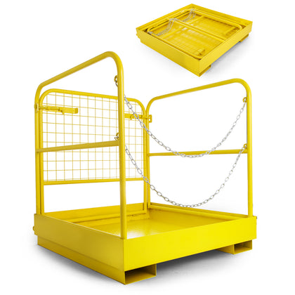 36''*36'' Forklift Work Platform Safety Cage Heavy Duty Durable 900lbs Capacity