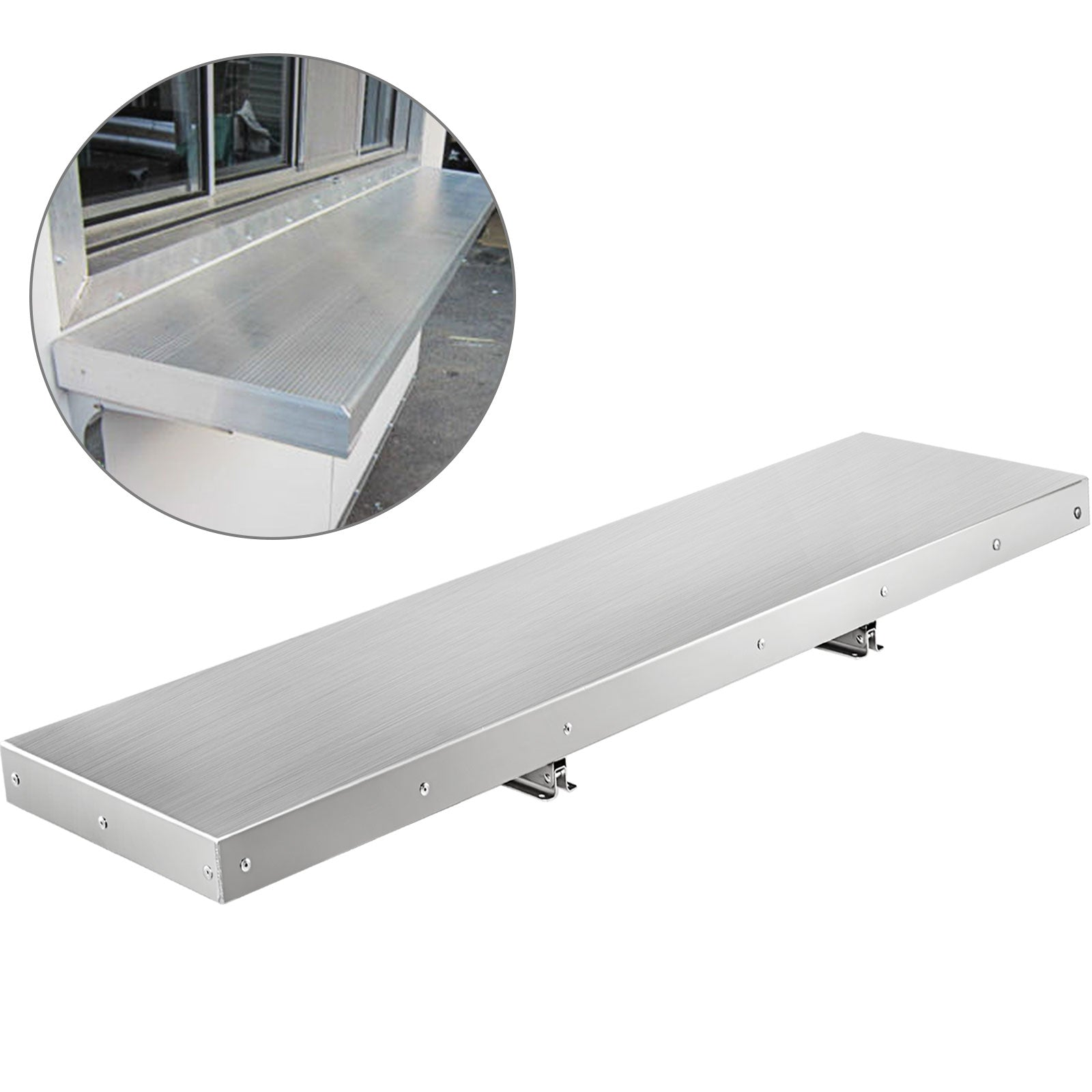 4 Foot Shelf For Concession Window Tabletop Foldable Food Truck Accessories