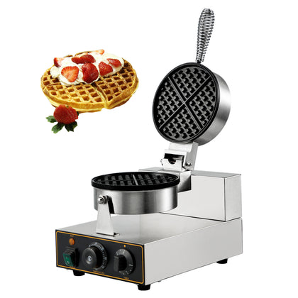 Round Waffle Maker Machine Muffin Maker Commercial Nonstick Electric Steel 110v