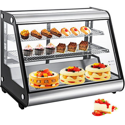 Refrigerated Bakery Display Case Countertop 160l Show Case Cabinet Dessert Case