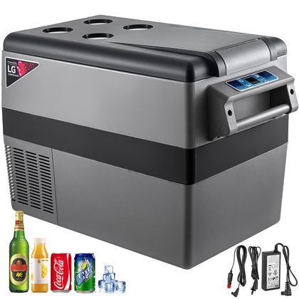 Car Fridge Freezer Cooler Mini Refrigerator 47.5qt Portable Lg Compressor 12/24v