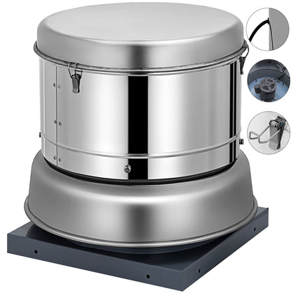 "Restaurant Hood Roof Exhaust Fan 1400cfm Storage Room 19.7""base Commercial"