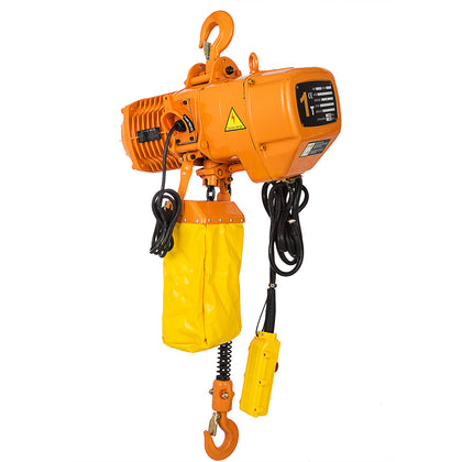 Electric Chain Hoist 2200lbs 10' Lift Height Lift Building 3 Phases 220v