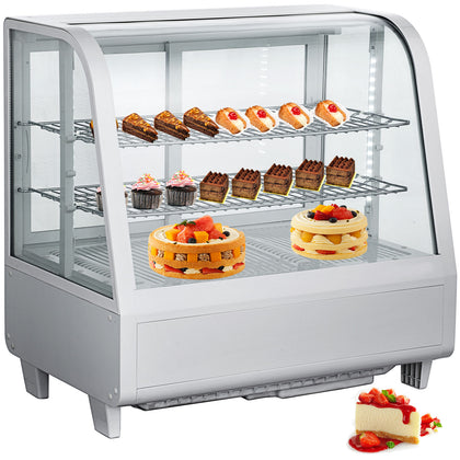 Commercial Countertop Refrigerated Bakery Dairy Display Case 3-1/2 Cu Ft 100l