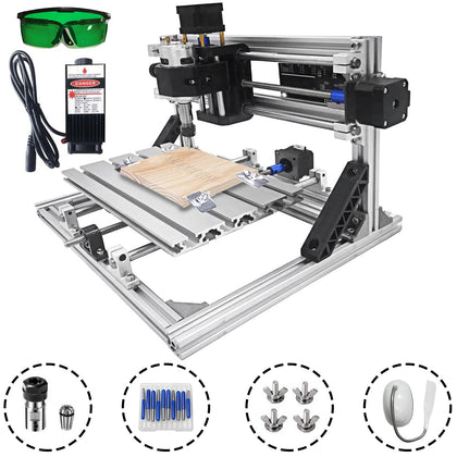3 Axis Cnc Router Kit 2418 2500mw Engraving Machine With Laser Engraver Diy