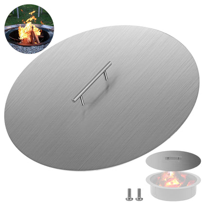 Double Flame Fire Pit Lid Cover 20 Diameter Proctecter Outdoor 304 Stainless