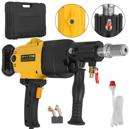 2180w Diamond Core Drill Hand-held Concrete Machine Wet Drilling Press Yellow