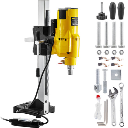 3980w Diamond Core Drill Concrete Machine With Stand Press Drilling & Drill Bits