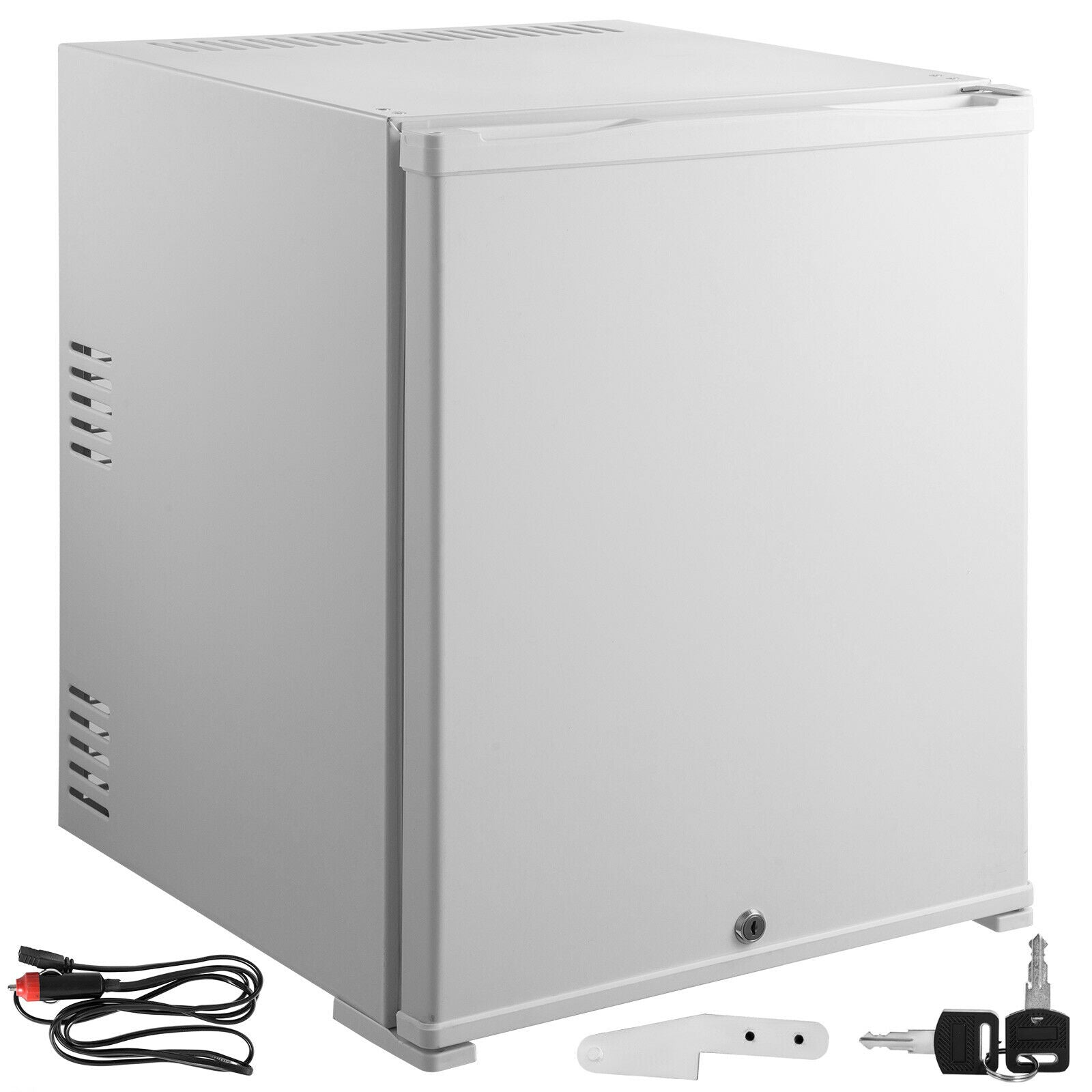 Portable Refrigerator 50l 12v Compact Absorption Fridge White Mini Car Cooler