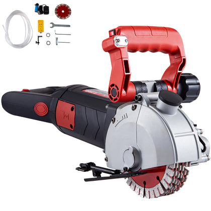 Vevor 133mm Wall Slotting Machine 4800w Electric Wall Chaser Groove Concrete Saw