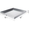 "32""x32"" Washing Machine Pan 304 Stainless Steel Spill Washer Machine Tray Home"