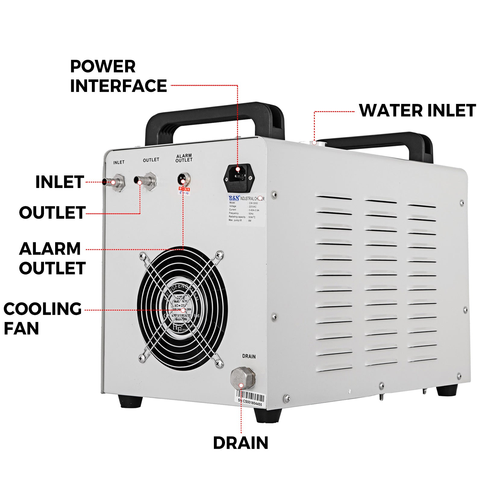220v Industrial Water Chiller Cw-3000 For Cnc/ Laser Engraver Engraving Machines