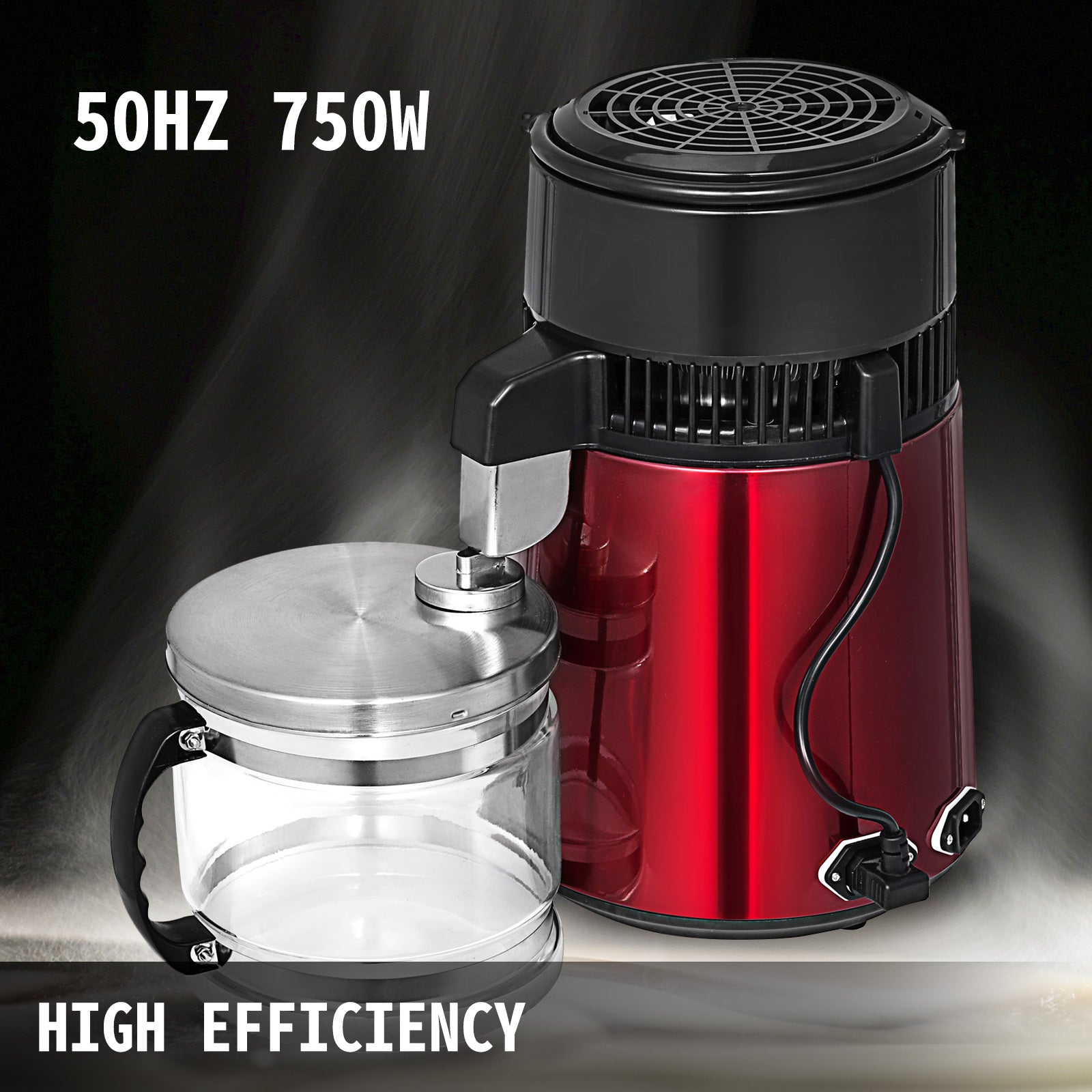 4l Water Distiller Stainless Steel Water Purifier Filter Glass Jar Kitch Medical