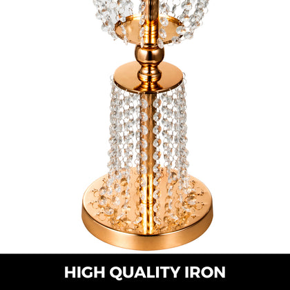 Wedding Centerpieces Vases Crystal Metal Table Gold Flower Holder Stand Rack