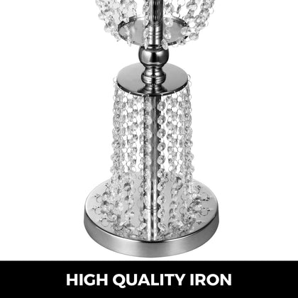 Wedding Centerpieces Vases Crystal Metal Table Silver Flower Holder Stand Rack