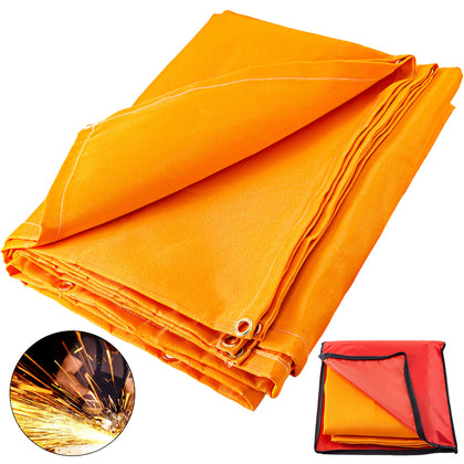 Welding Blanket Fiberglass Blanket 6x10 Ft Fire Retardant Blanket Orange