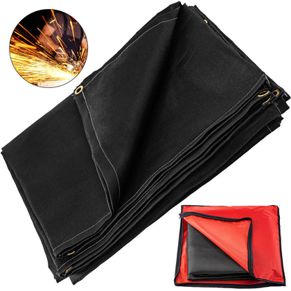 Welding Blanket Fiberglass Blanket 8x10 Ft Fire Retardant Blanket Black