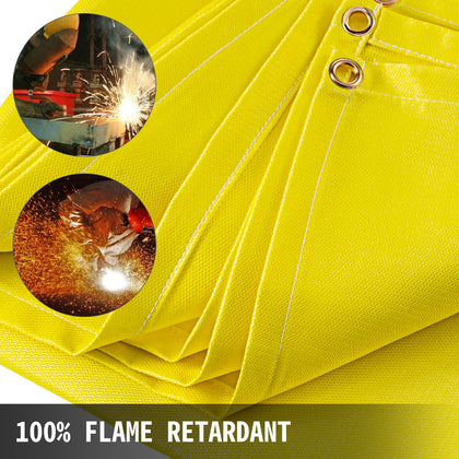 Welding Blanket Fiberglass Blanket 10 X 10 Ft Fire Retardant Blanket Golden