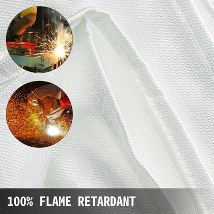 Welding Blanket Fiberglass Blanket 6 X 10 Ft Fire Retardant Blanket White