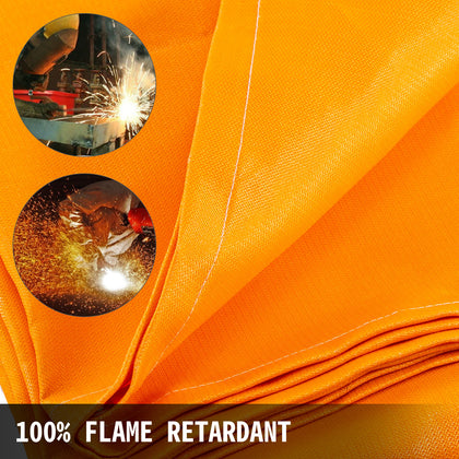 Welding Blanket Fiberglass Blanket 10 X 10 Ft Fire Retardant Blanket Orange