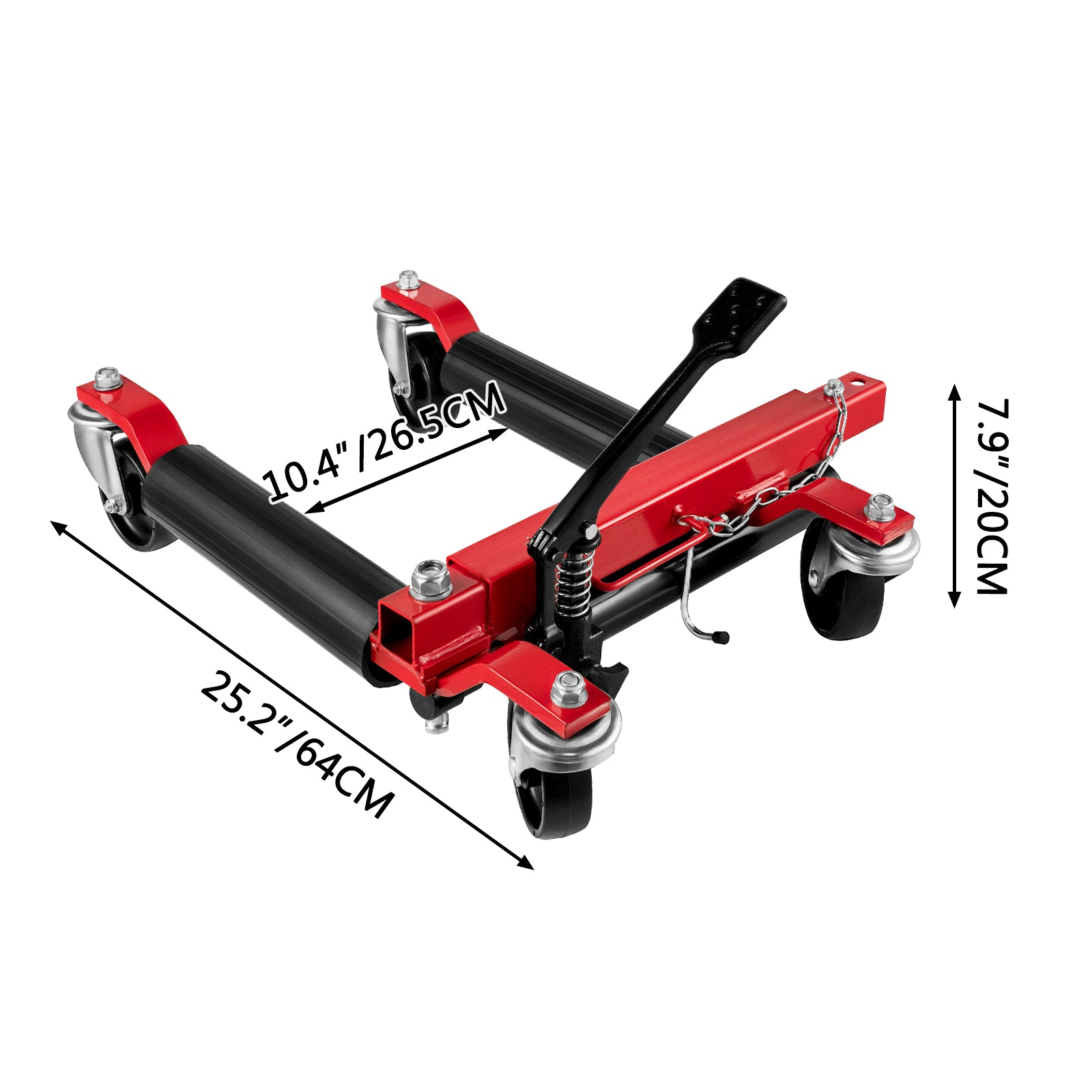 Vevor Wheel Dolly Car Dolly 1500 Lbs Car Jack Dolly Hydraulic Wheel Jack For Car