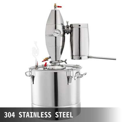 50l 13g Distiller Brewing Kit Moonshine Still Stainless Wine Boiler Home