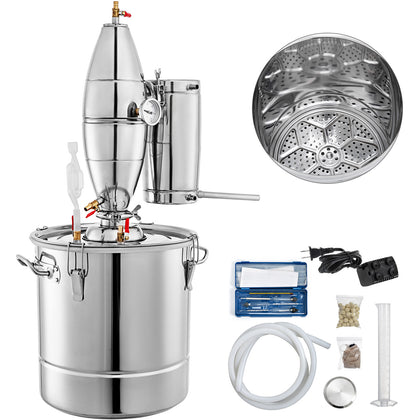 8g 30l Distiller Brewing Kit Moonshine Still Stainless Wine Boiler Home