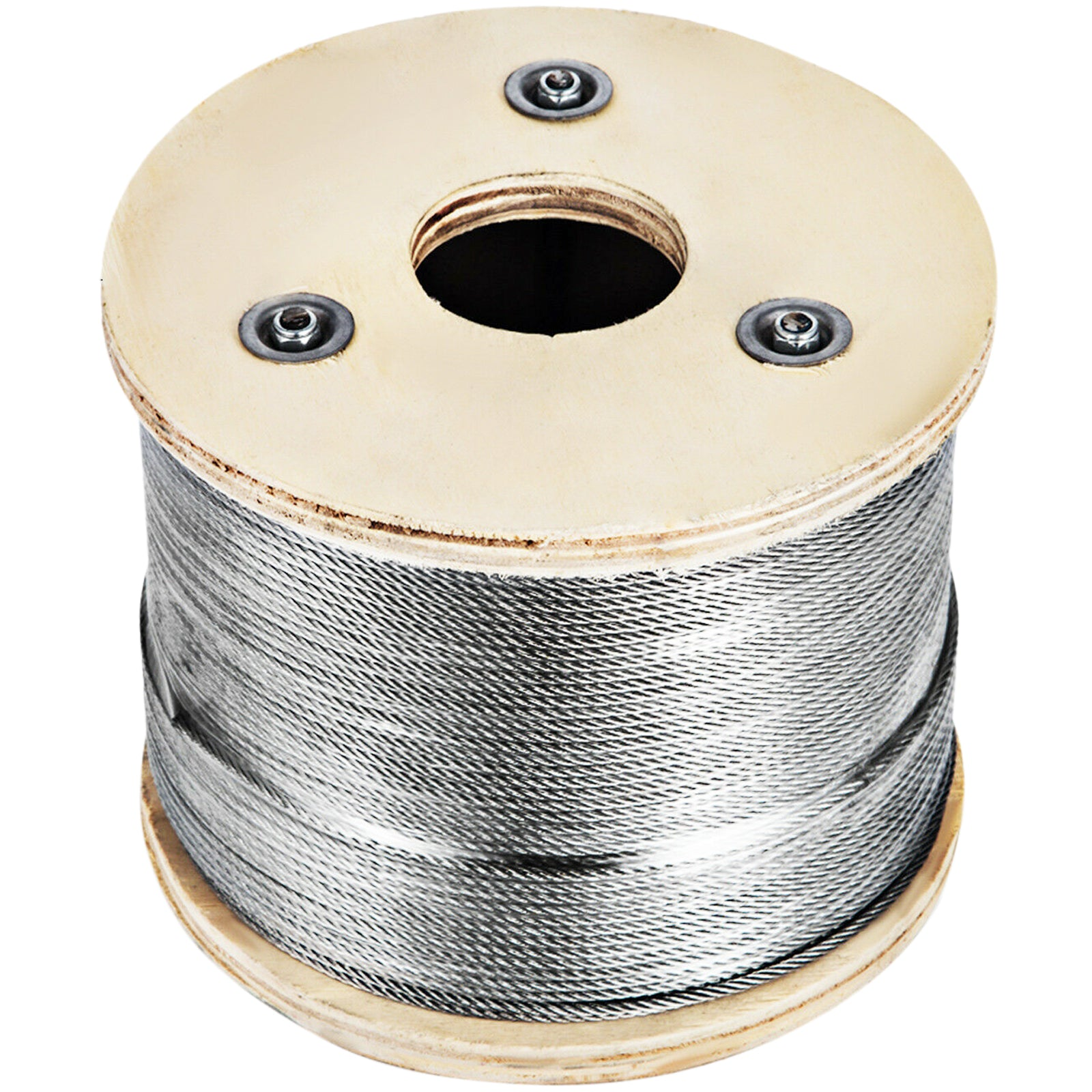 "Cable Railing Type 316 Stainless Steel Wire Rope Cable, 1/8"",7x7, 500 Ft Reel"